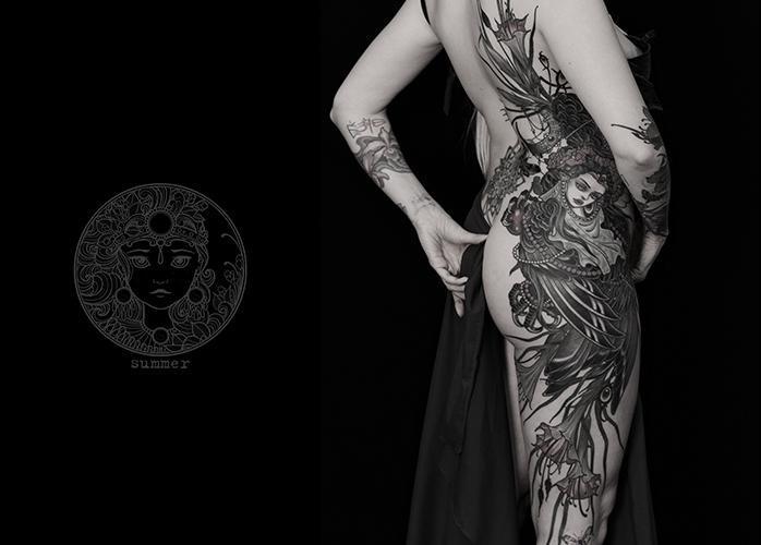 татуировка алконост