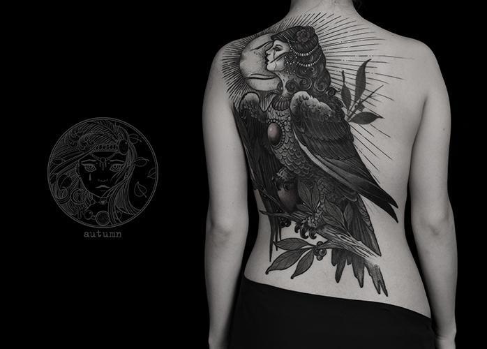 татуировка гамаюн
