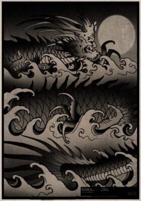 Тату эскиз демон моря