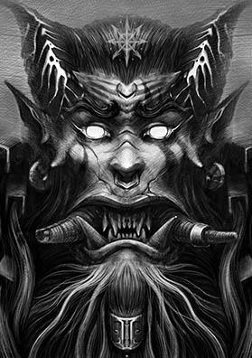 Тату эскиз король орков