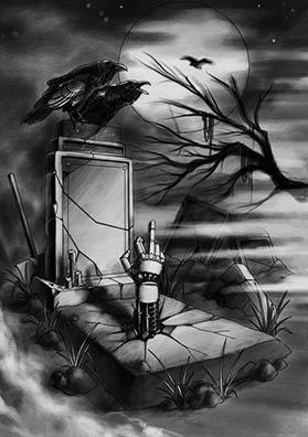 Тату эскиз кладбище
