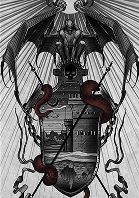 Эскиз тату герб вампиров