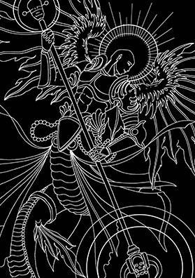 Тату эскиз архангел