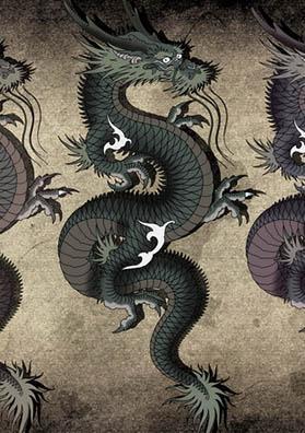 Тату эскиз хитрый дракон