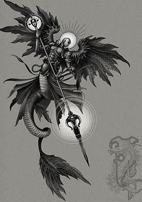 Эскиз тату архангел