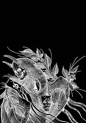 Эскиз тату птица смерти