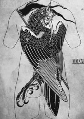 Эскиз татуировки на спину