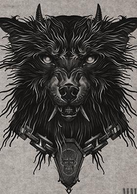 Тату эскиз волк