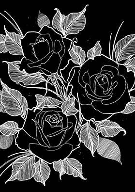 Эскиз тату три розы
