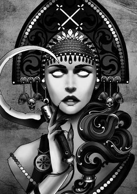 Тату эскиз богиня Мара