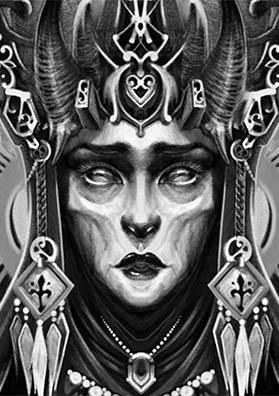 Эскиз татуировки лицо