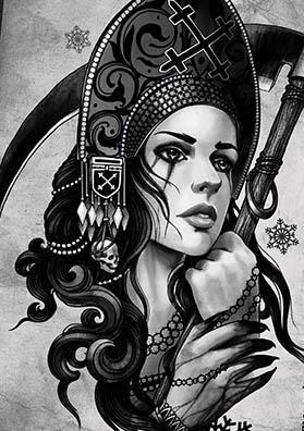 Тату эскиз богиня Морена