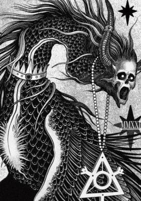 Мифический демон тату эскиз