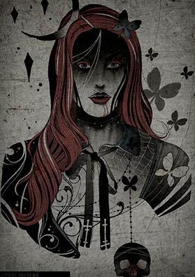 Тау эскиз королева вампиров
