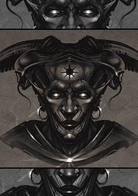 Эскиз тату демон