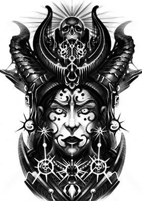 Эскиз татуировки шаман