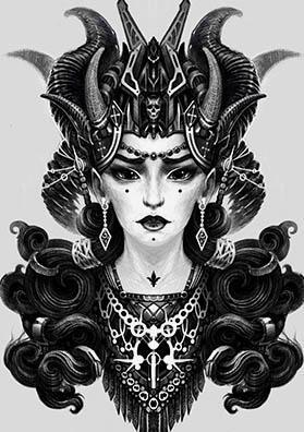 Эскиз татуировки демон