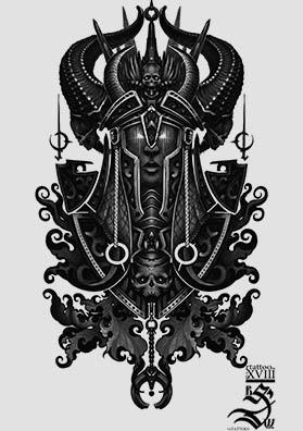 Эскиз тату князь темных