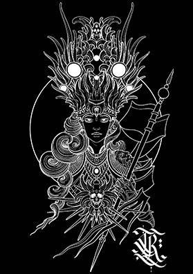 Эскиз тату королева теней
