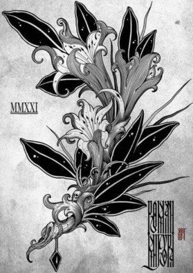 Цветок готика