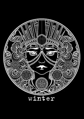 Тату эскиз зима