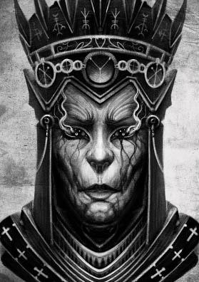 Эскиз тату предводитель темных сил