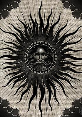 Эскиз тату черное солнце