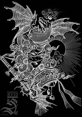 Повелительница драконов тату эскиз