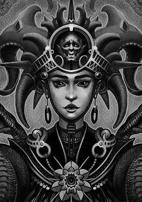 Эскиз тату корона темного лорда