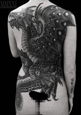 Дракон татуировка
