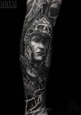 Римский воин тату