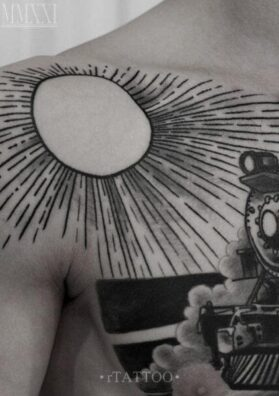 Солнце тату