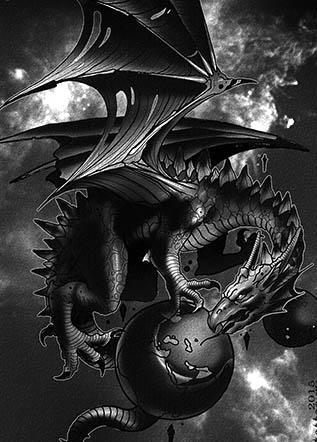 Тату дракон эскиз