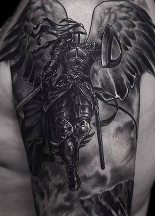 Тату воин ангел