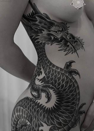 Тату японский дракон