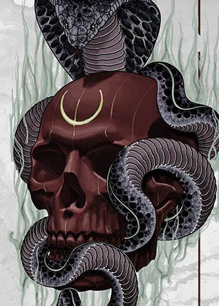 Тату змея кобра