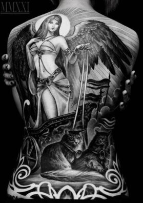 Татуировка на спине Фрэя