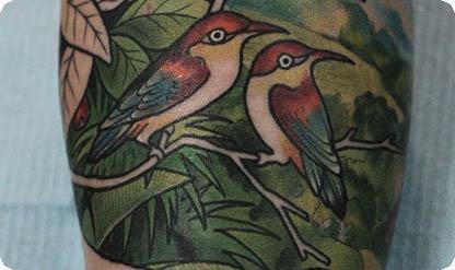 цветная тату