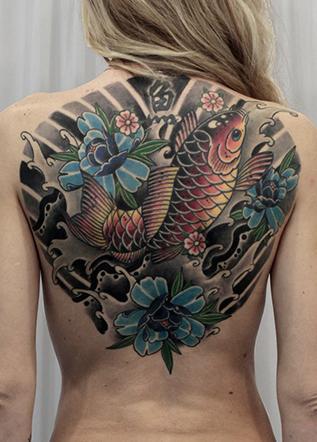 Японская тату кои