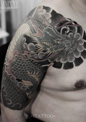 Ориентальная татуировка дракон 3