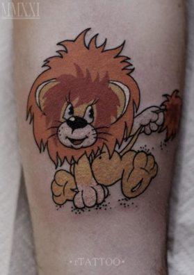 Тату львенок