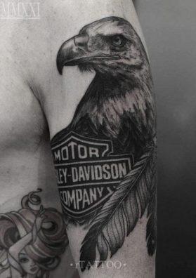 Тату орел на руке 2