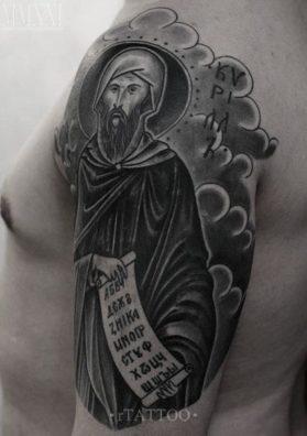 Тату святой на плече 2