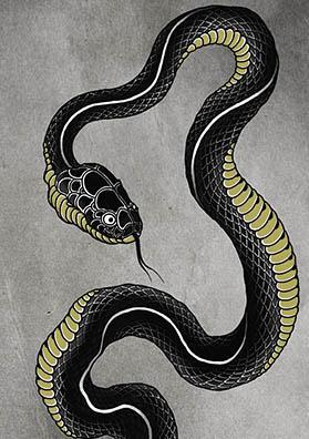 Эскиз тату змея