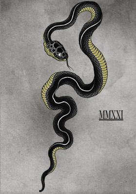 Тату эскиз змея