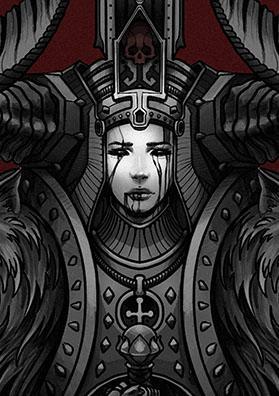 Эскиз тату темный страж