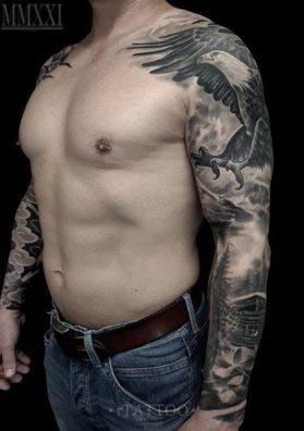 Татуировка на руке мужская