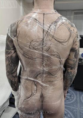 Расположение и размер татуировки
