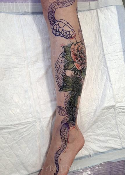 Трансфер татуировки